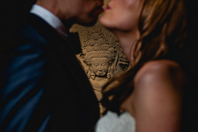 Bride & Groom portrait at Marylebone Hotel Wedding