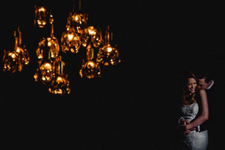 Bride & Groom portrait at Marylebone Hotel Wedding London
